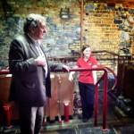 Distillery Manager Brian and Distiller Andrina at Kilbeggan Distillery - Photo by Corey Taratuta