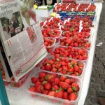 Fresh Irish strawberries at the Milk Market - photo by Corey Taratuta