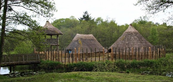 Crannog at Cragaunowen, County Calre, Ireland