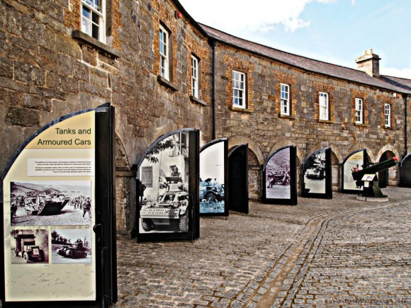 Following the curve of the River Erne, the Curved Range was constructed in the early 19th century as stables with rooms above for cavalry men. Today the stables house history from the Great Wars of the 20th century.