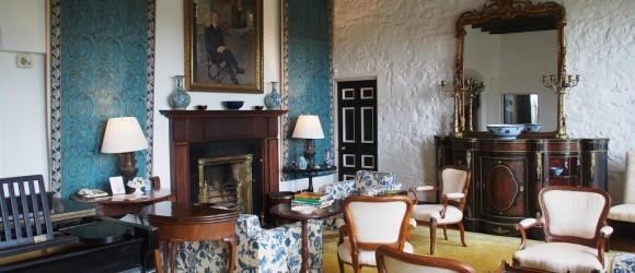 Private Sitting Room, Knappogue Castle, County Clare, Ireland.