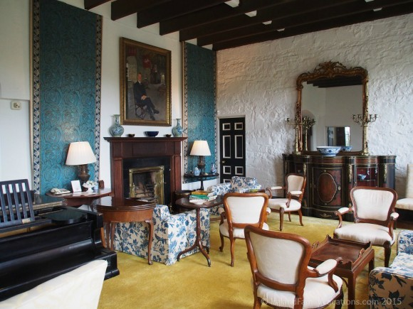 Private Sitting Room, Knappogue Castle, County Clare, Ireland.